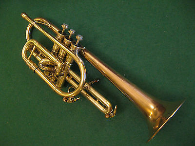 York Pro Model Cornet Rose Brass Bell with Case
