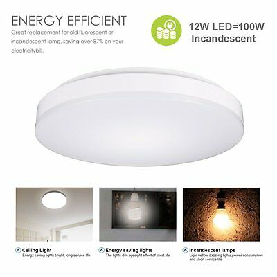 Flush Mount LED Ceiling Lights,TryLight 12W,1000 Lumens,11.4-inch,4000K Color( N