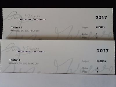 Bayreuther Festspiele Tristan I,   2 Tickets