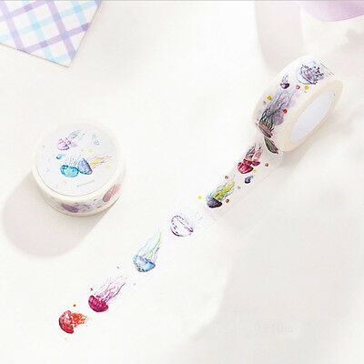 Sticker Stationery DIY Cartoon Masking Tape Adhesive Tape Jellyfish Washi Tape