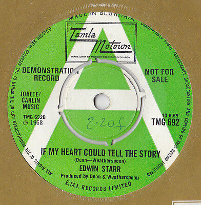 EDWIN STARR * UK DEMO (One-Sided) * 'IF MY HEART COULD TELL THE STORY' * TMG 692