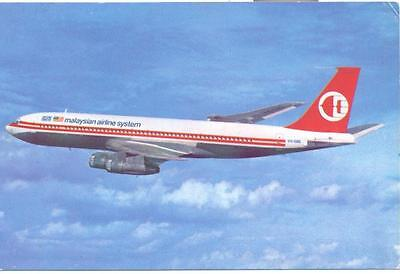Malaysian Airline System Boeing 707  Aviation Airline Issue Postcard