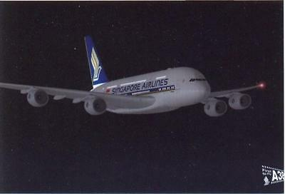 Singapore Airline Airbus A380   Aviation Airline Postcard