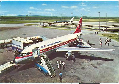 Malaysian Airline Sytem Boeing 737   Aviation Airport Postcard