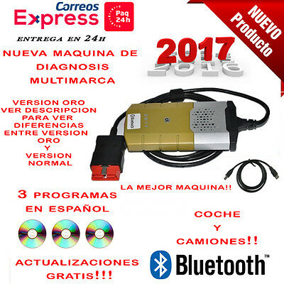 Maquina Diagnosis Bluetooth Multimarca 2017 Oro + 3 Soft Para Coche Camion / 24H