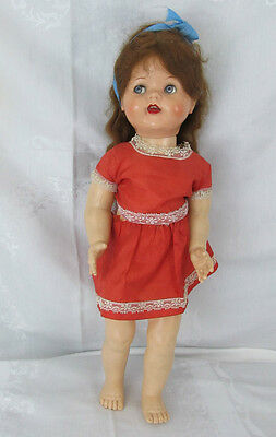 """1951 Ideal Saucy Walker Doll With Flirty Googly Eyes 22"""""""