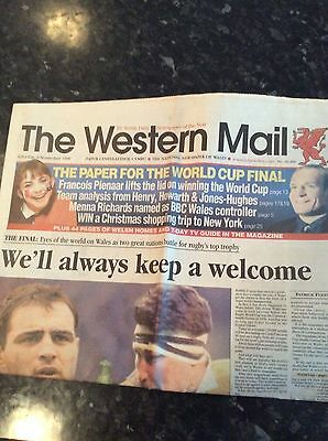 Western Mail Newspaper 06.11.1999 World Cup Australia, England Etc