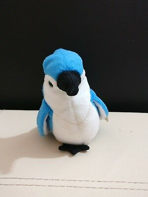 RARE TY Beany Baby - Rocket Blue Jay, WITH TAGS W/ERRORS!! perfect condition