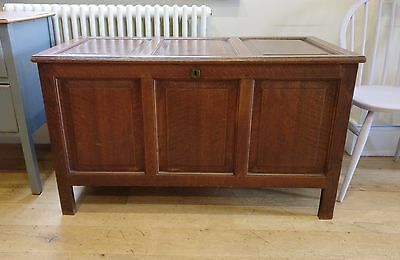 17th/18th century coffer with candle box/blanket box/chest/ trunk/ antique(1256}