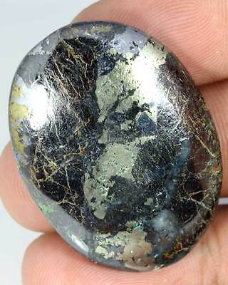 89.65Cts. AAA  NATURAL COPPER AZURITE OVAL CAB LOOSE GEMSTONE AFRICA CZ4195