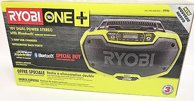 RYOBI P746 One+ 18v Dual Power Stereo with Bluetooth  - NEW in SEALED BOX