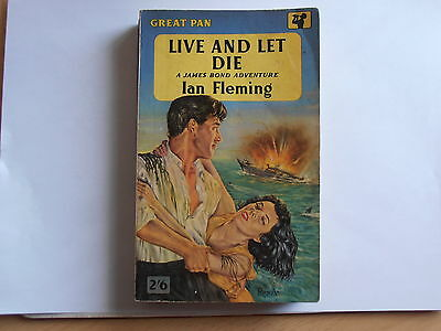 Live And Let Die by Ian Fleming - 1957 1st Pan paperback edition