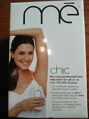 Iluminage me Chic Targeted Permanent Hair Reduction Device SEALED 150K flashes