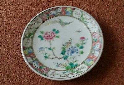 early 20th century chinese hand painted plate