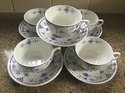Furnivals / Masons Denmark cups and saucers x 5 - excellent