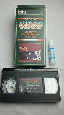 VHS cassette head cleaning system