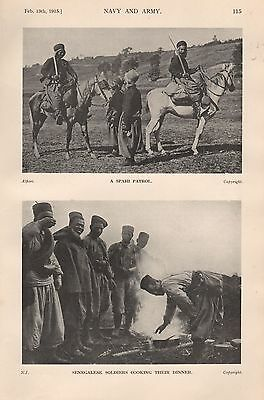 1915 Ww1 A Spahi Patrol, Senegalese Soldiers Cooking