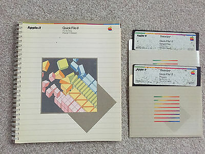 Apple Quick File II (Manual and Disks)