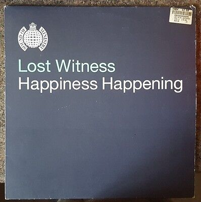 "Lost Witness - Happiness Happening - Retro trance 12"" DJ Vinyl ' Buy 2 get 3rd F"