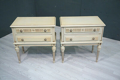 Pair of Vintage French Bedside Drawers (BR320)