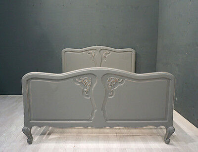 Vintage French Double Bed / Shabby style Double Bed (BR307)