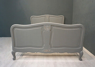 Vintage French Bed / Shabby style Double French Bed (BR306)
