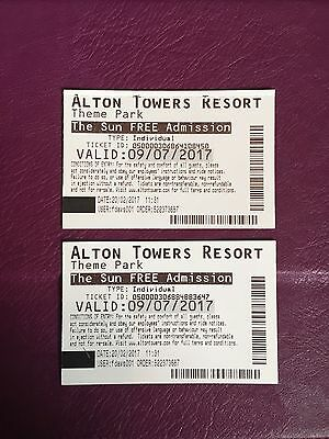alton towers tickets X2 9th July