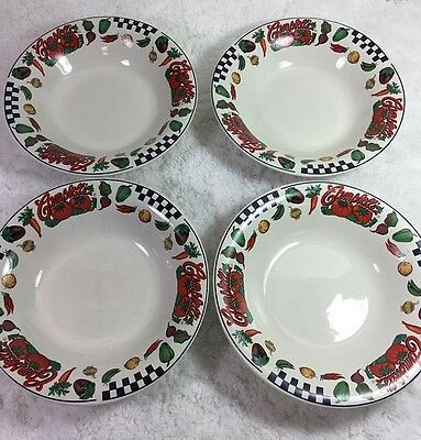 Campbell's Soup Bowls / Set of 4 / Gibson Housewares / 1997 / Campbell Soup Comp