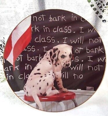 The Hamilton Collection Comical Dalmatian I WILL NOT BAR IN CLASS Plate # 4266A