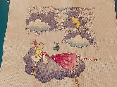 "Felicity Wishes completed cross stitch picture "" Wishful Thinking"""