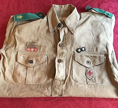 WW2 Boy Scouts Shirt with rare Badges