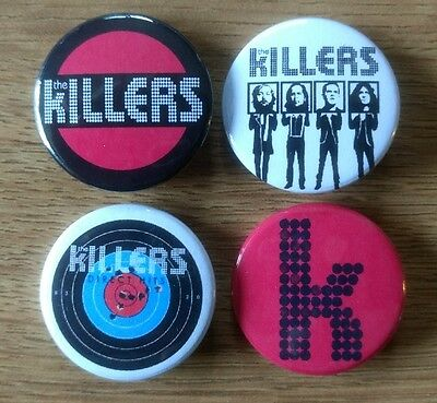 The Killers 25mm button badges set of 4