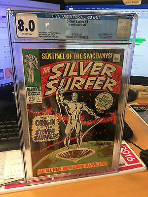 Silver Surfer #1 CGC 8.0 OW pages