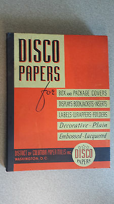 Vintage DISCO PAPERS Salesman Sample Book Box Covers Book Jackets Labels D.C.