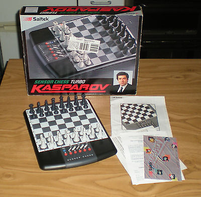 Saitek - sensor chess turbo - kasparov chess set - rare