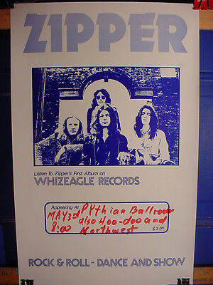 SCARCE Fred Cole Zipper The Weeds Dead Moon Pierced Arrows Rats '75 Show Poster