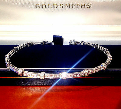 Stunning 18ct white Gold Diamonds Bracelet Goldsmiths Not Scrap