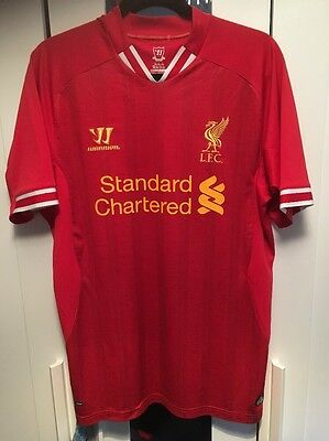 LIVERPOOL Large  2013-2014 Football Home Shirt 42-44 Inch Chest