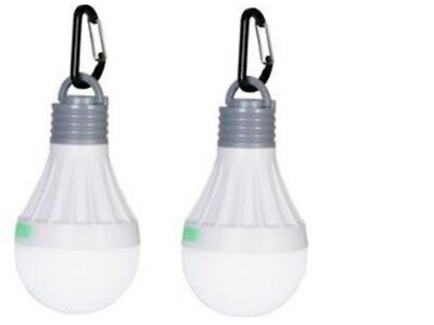Camping Tent Portable Led Light Bulbs - Pack Of 2 - Indoor / Outdoor Lantern New