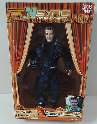 """Nsync Justin Timberlake 10"""" Collectable Doll Living Toyz New Sealed!!"""