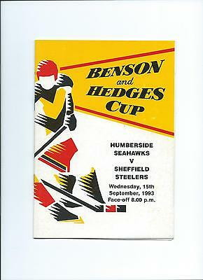 93/94  Humberside Hawks  v Sheffield Steelers  B and H Cup
