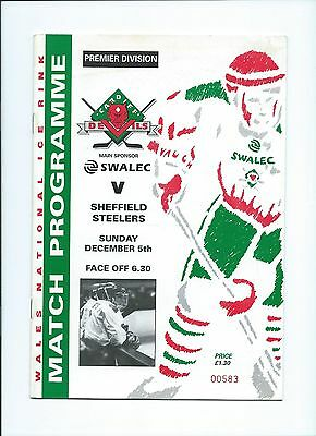 93/94 Cardiff Devils v Sheffield Steelers  Dec 5th