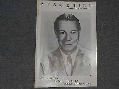 Chicago Stagebill HINDSDALE SUMMER Theatre Joe E. Brown 1960 Father of the Bride
