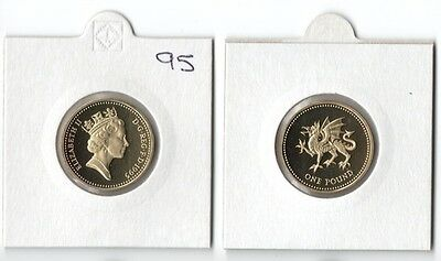 1995 proof,One Pound,Welsh Dragon