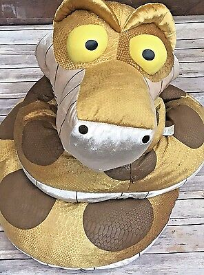 HTF RARE 10 ft DISNEY STORE Jungle Book GIANT KAA SNAKE Stuffed Plush Python