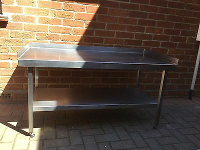 Low Commercial Stainless Steel Preperation Table With Adjustable Height Feet