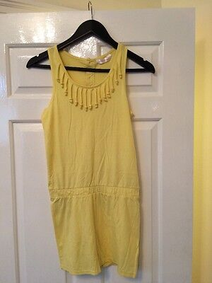 Girls Yellow Playsuit Age 12-13 Years
