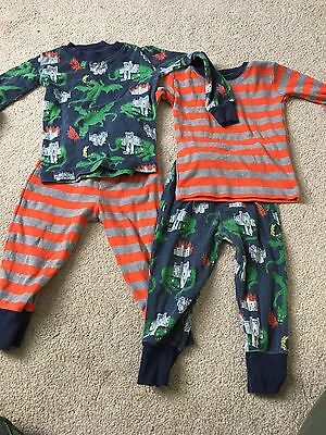 Boden Baby Boys Pyjamas Age 2 Dragon Knights  12-18 Months 18-24 Snuggle Fit