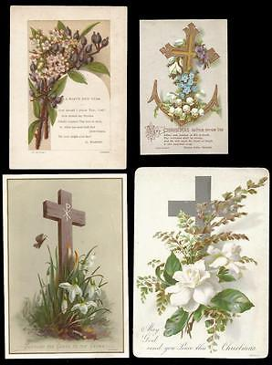 G04 - Group Of Four Assorted Victorian Cards With A Religious Theme