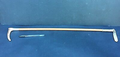 Antique Riding Crop With Hallmarked Silver Collar and Bone Handle